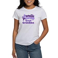 Alzheimers Walk For Great Grandma Tee