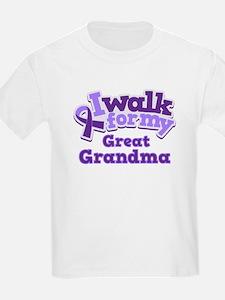 Alzheimers Walk For Great Grandma T-Shirt