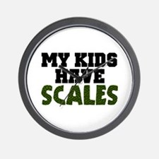 'My Kids Have Scales' Wall Clock