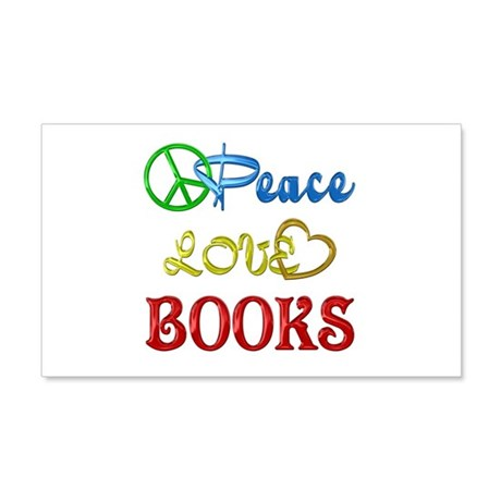 Peace Love Books 22x14 Wall Peel
