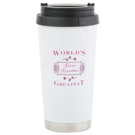 World's Greatest Great Grandma (Rose) Stainless St
