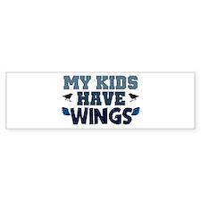 'My Kids Have Wings' Bumper Sticker