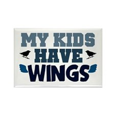'My Kids Have Wings' Rectangle Magnet (10 pack)