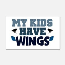 'My Kids Have Wings' Car Magnet 20 x 12