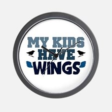 'My Kids Have Wings' Wall Clock