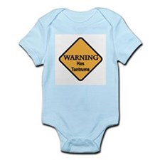 Warning-Has Tantrums Infant Creeper