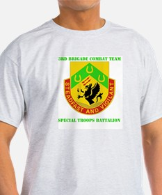 DUI - 3rd BCT - Special Troops Bn with Text T-Shirt