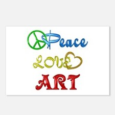 Peace Love Art Postcards (Package of 8)
