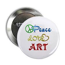 "Peace Love Art 2.25"" Button (100 pack)"