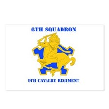 DUI - 6th Sqdrn - 9th Cavalry Regt with Text Postc