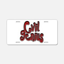 Dark Evil Genius Aluminum License Plate