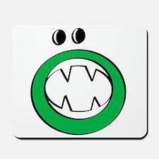 Green Halloween Gooble Mousepad
