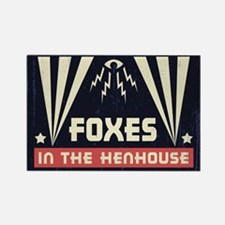 Foxes in the Henhouse Rectangle Magnet