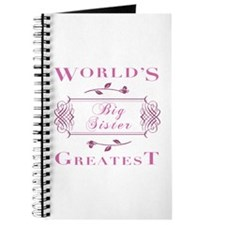 World's Greatest Big Sister (Rose) Journal