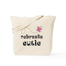 Nebraska Cutie Butterfly Tote Bag