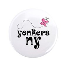"""Yonkers NY Pretty 3.5"""" Button"""