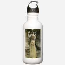 Vintage Bellydancer Yellow Water Bottle