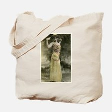 Vintage Bellydancer Yellow Tote Bag