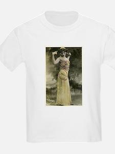 Vintage Bellydancer Yellow T-Shirt