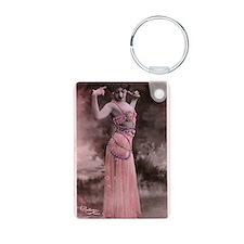 Vintage Bellydancer Pink Keychains