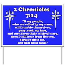 2 Chr 7:14 Cross HS Yard Sign