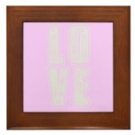 Love (pink) Framed Tile
