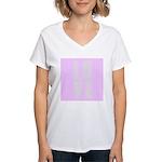 Love (pink) Women's V-Neck T-Shirt
