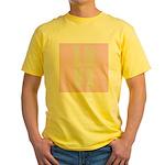 Love (pink) Yellow T-Shirt
