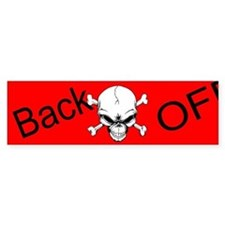 Red Back Off Custom Bumper Sticker