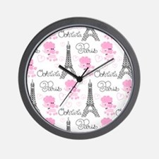 Paris Poodles Wall Clock