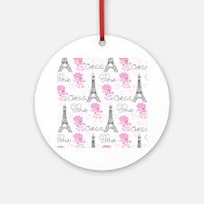 Paris Poodles Ornament (Round)