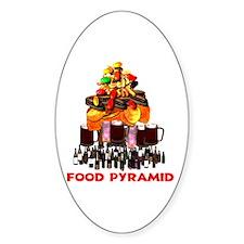 Food Pyramid Oval Decal