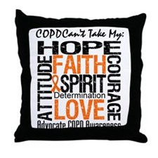COPD Together For Cure Throw Pillow
