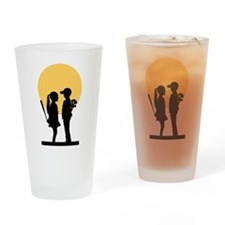 Love will hurt Drinking Glass