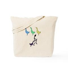 Duck Duck Goose Pun Tote Bag