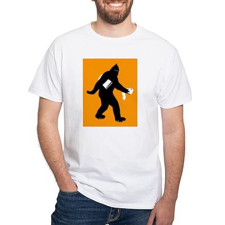 Bigfoot Surprised White T-Shirt