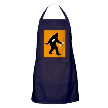 Bigfoot Surprised Apron (dark)