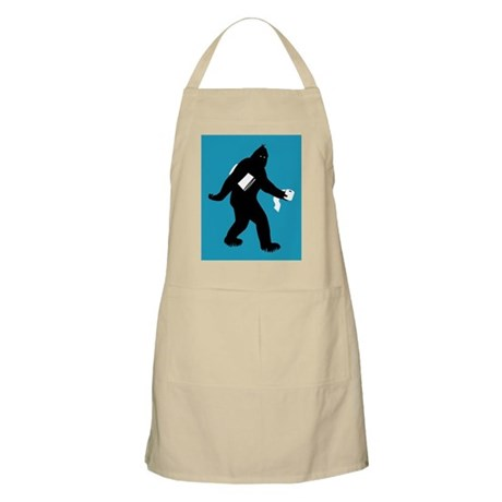 Bigfoot Surprised Apron