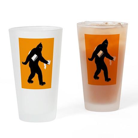 Bigfoot Surprised Drinking Glass