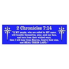 2 Chr 7:14 Cross HS Bumper Sticker