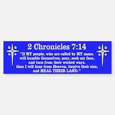 2 Chr 7:14 Cross HS Car Car Sticker