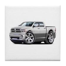 Ram White-Grey Dual Cab Tile Coaster