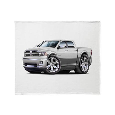 Ram White-Grey Dual Cab Throw Blanket
