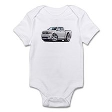 Ram White Dual Cab Infant Bodysuit