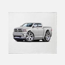 Ram White Dual Cab Throw Blanket