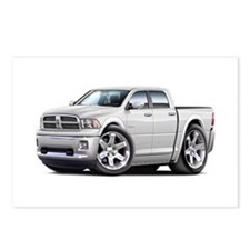 Ram White Dual Cab Postcards (Package of 8)
