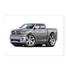 Ram Silver-Grey Dual Cab Postcards (Package of 8)
