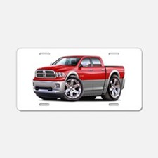 Ram Red-Grey Dual Cab Aluminum License Plate