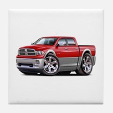 Ram Red-Grey Dual Cab Tile Coaster