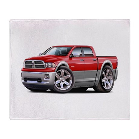 Ram Red-Grey Dual Cab Throw Blanket